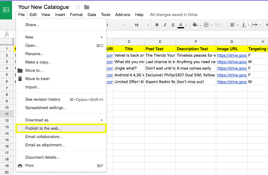 5 steps to automated prospecting google sheets_publish to web