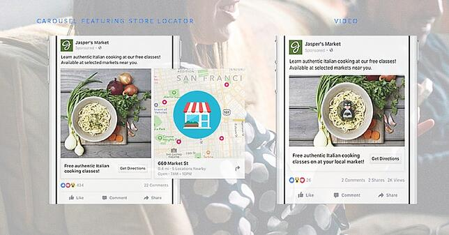 Facebook features for offline business - Carousel Store Locator