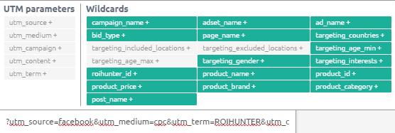 UTM parameters