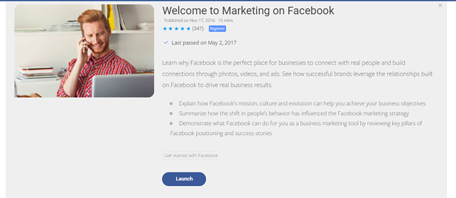 Facebook blueprint a guide to facebook advertising facebook blueprint course overview malvernweather Image collections