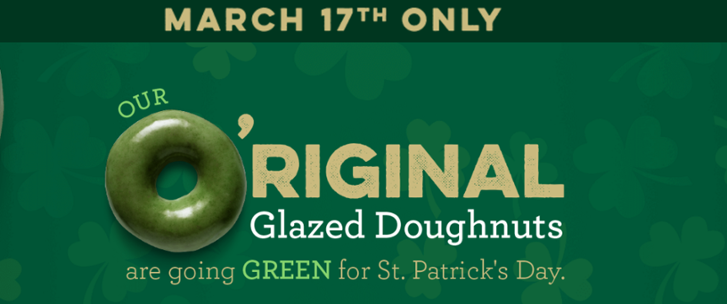 Saint Patrick's day advertising examples