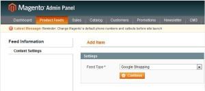 product feed magneto roi hunter admin panel 2