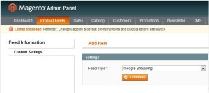 product feed magneto roi hunter admin panel 2