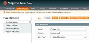 product feed magneto roi hunter admin panel 3