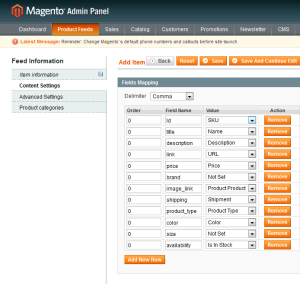 product feed magneto roi hunter admin panel 4