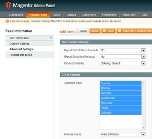 product feed magneto roi hunter admin panel 5