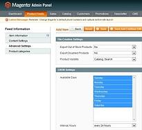 product feed magneto roi hunter admin panel 5