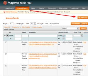product feed magneto roi hunter admin panel