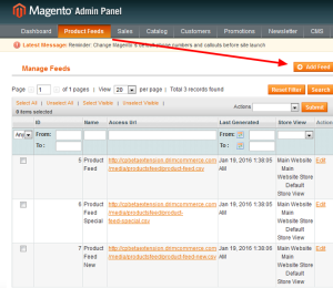 product feed magneto roi hunter admin panel