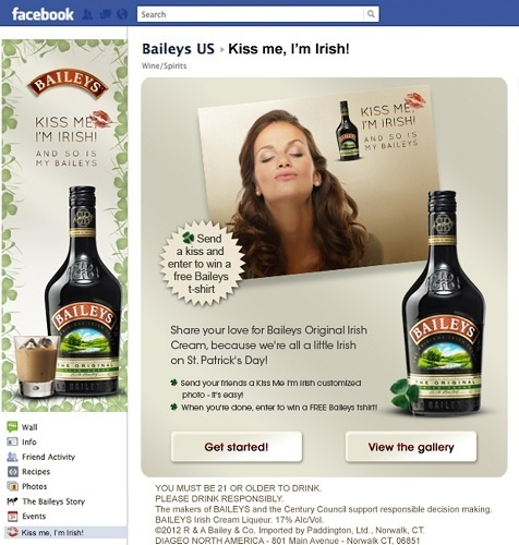 Saint Patrick's day Facebook advertising examples