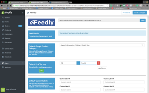 Shopify product feed 4.